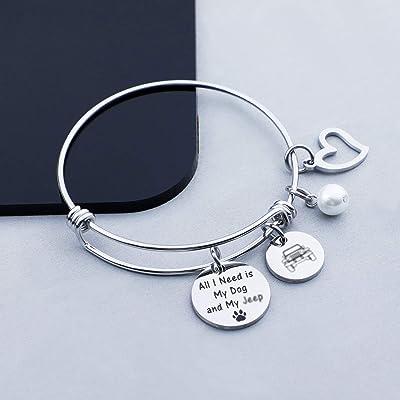 Eigso Car Girl Bangle Bracelet Jewelry Wrangler Owner Jewelry Wrangler Gift for Cool Girl