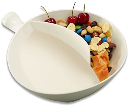 Amazon maxfashion med white anti soggy cereal bowl with maxfashion med white anti soggy cereal bowl with ergonomics handle design n grip ccuart Choice Image