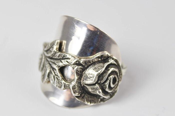 Rosen Ring 800er Silber Besteck Schmuck Ring Ca 57 182 Amazon