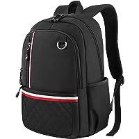 初中背包,大学生背包袋女式男式女孩男孩,可爱轻质防水大电脑书包适用于高中/大学/旅行适合15.6英寸笔记本电脑笔记本电脑 黑色 中