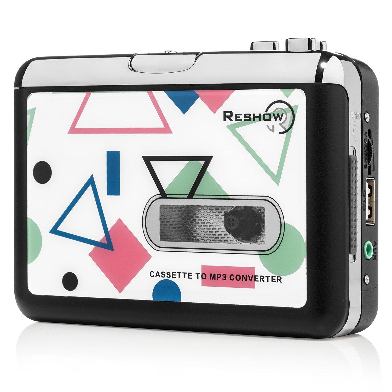 Reshow2015 Lecteur Cassette/Cpnvertisseur Lecteur Cassette pour Convertir MP3 en Lecteur Flash USB