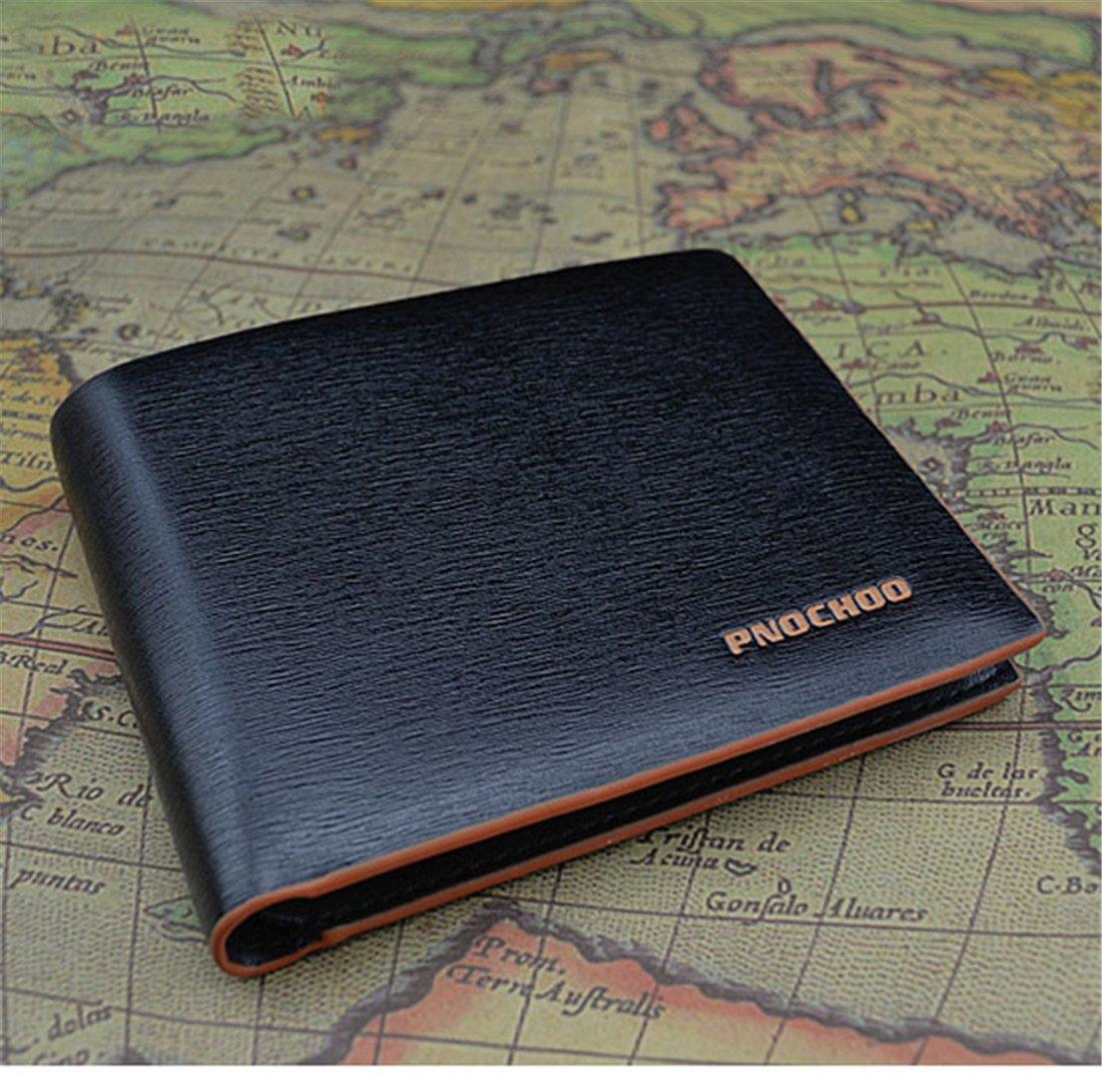 Hemlock Mens Bifold Wallets, Business Cards Holder Pocket Wallet (B)