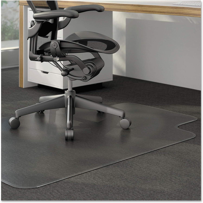 Amazon Com Alera Alemat4553clpl Studded Chair Mat For Low Pile Carpet 45 X 53 Clear Furniture Decor