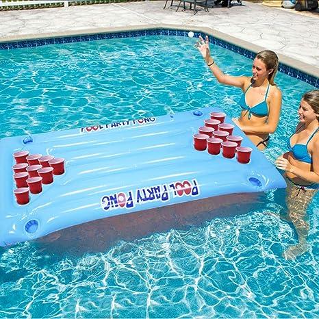 Wonderful ltd. Pong Inflable para Piscina, Cerveza, Mesa Flotante para Billar, Juego de balsa y salón: Amazon.es: Deportes y aire libre