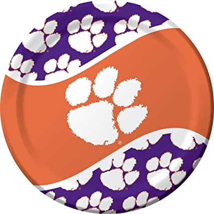 8-Count Paper Dinner Plates Clemson Tigers  sc 1 st  Amazon.com & Amazon.com: 8-Count Paper Dinner Plates Clemson Tigers: Kitchen ...
