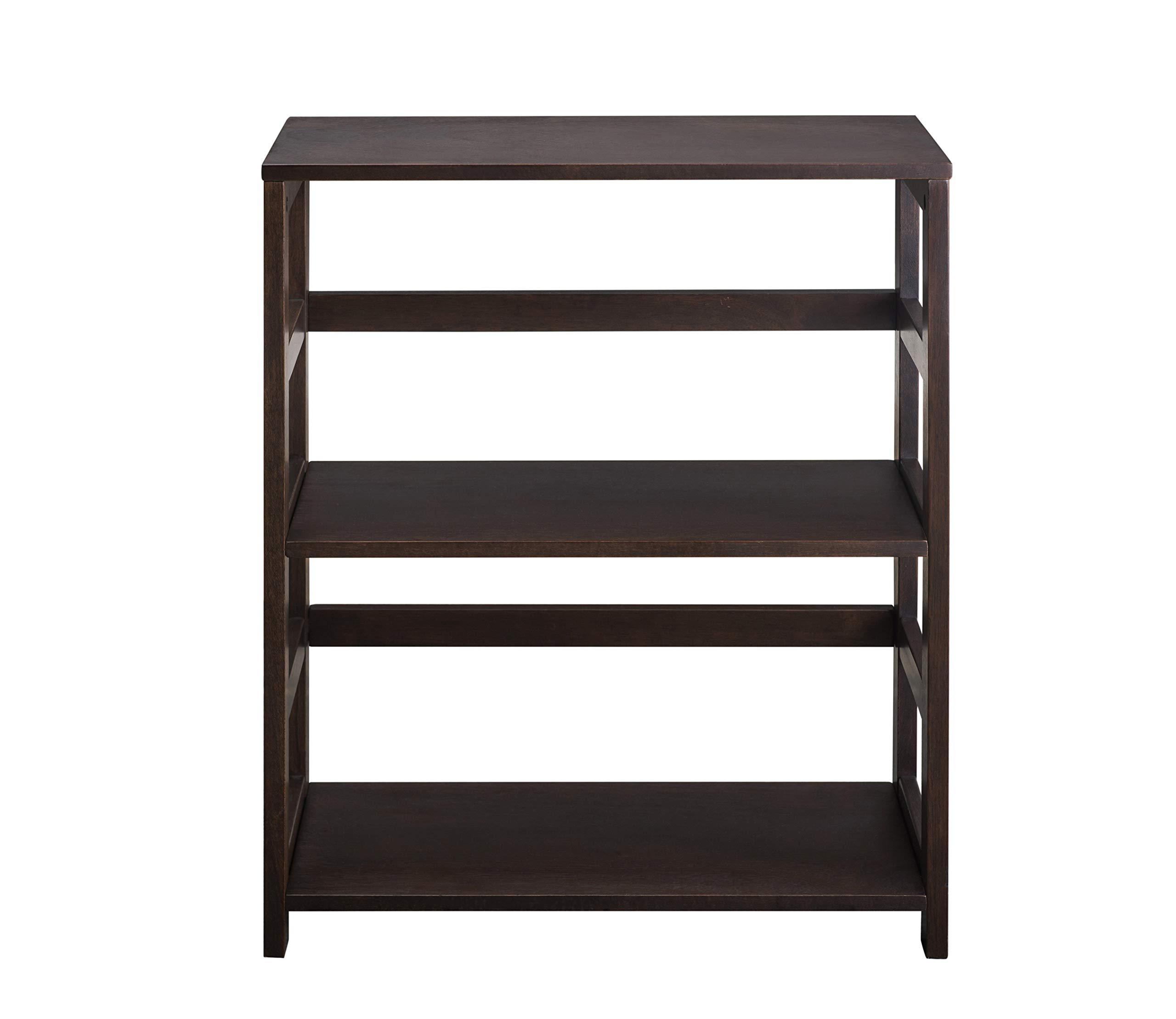 2L Lifestyle Hyder Everyday Basic Bookshelf Storage Rack Wood Shelf, Small, Brown by 2L Lifestyle (Image #4)