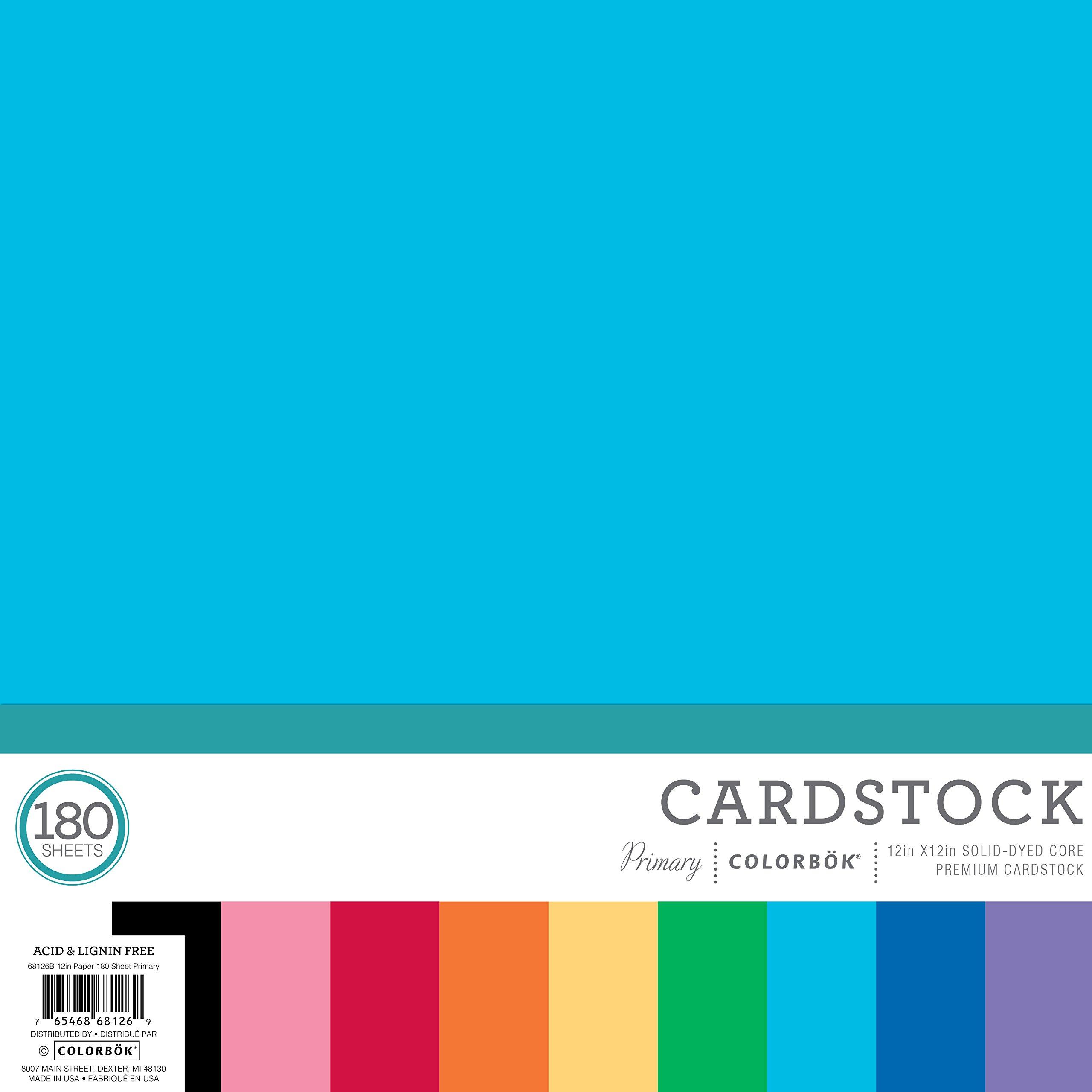 ColorBok 68126B Mega Paper Pad Mega Paper Pack, Primary, 12'' x 12''