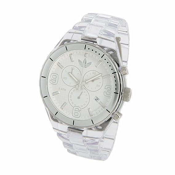 adidas Originals ADH2516 - Reloj analógico de cuarzo para mujer con correa de caucho, color transparente: Amazon.es: Relojes