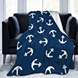 Soft Warm Anchor Plush Throw Blanket for Couch Comfortable Anchor-Grey