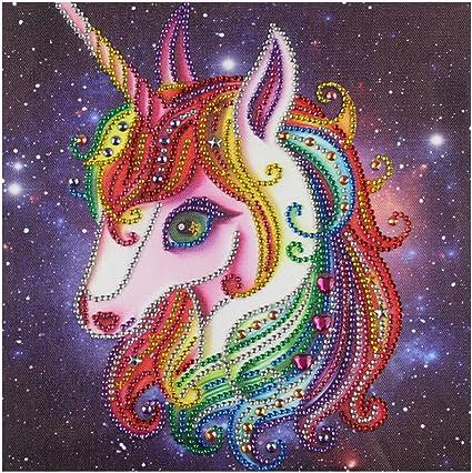Full Drill Rainbow Unicorn 5D Diamond Painting Horse Cross Stitch Kit Gift ASUK