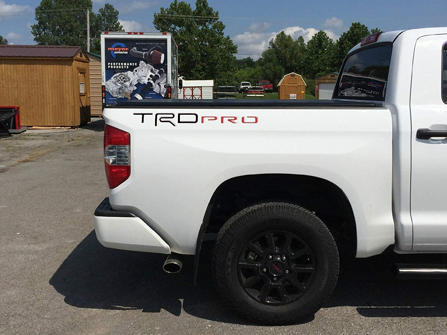 Black BDTrims Truck Bed TRD Pro Plastic Letters Inserts fits 2014-2019 Tundra Models