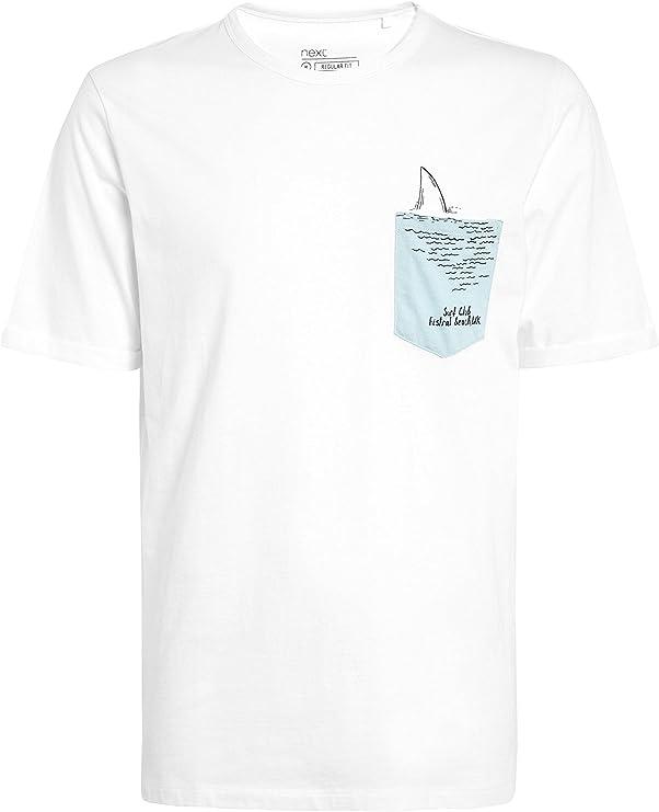next Hombre Camiseta Estampada con Bolsillo Y Tiburón ...