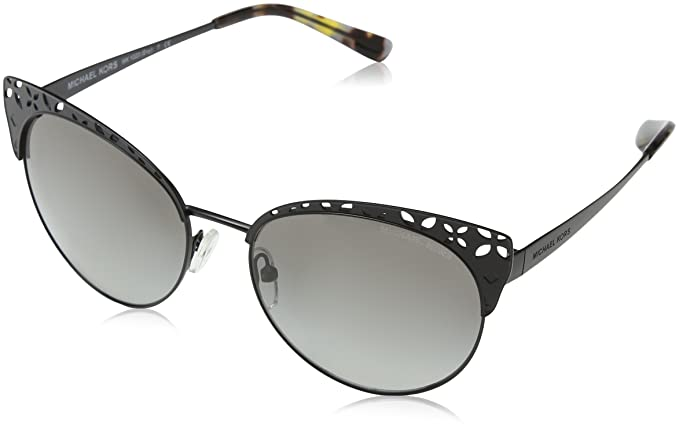 MICHAEL KORS Michael Kors Damen Sonnenbrille »EVY MK1023«, schwarz, 117411 - schwarz/grau