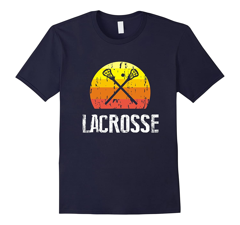 Retro Style Lacrosse Silhouette TShirt For Girls ,Boys-Art