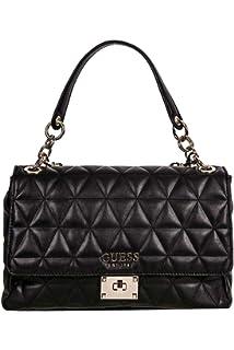 Guess Damen Laiken Shoulder Bag Umhängetasche, schwarz