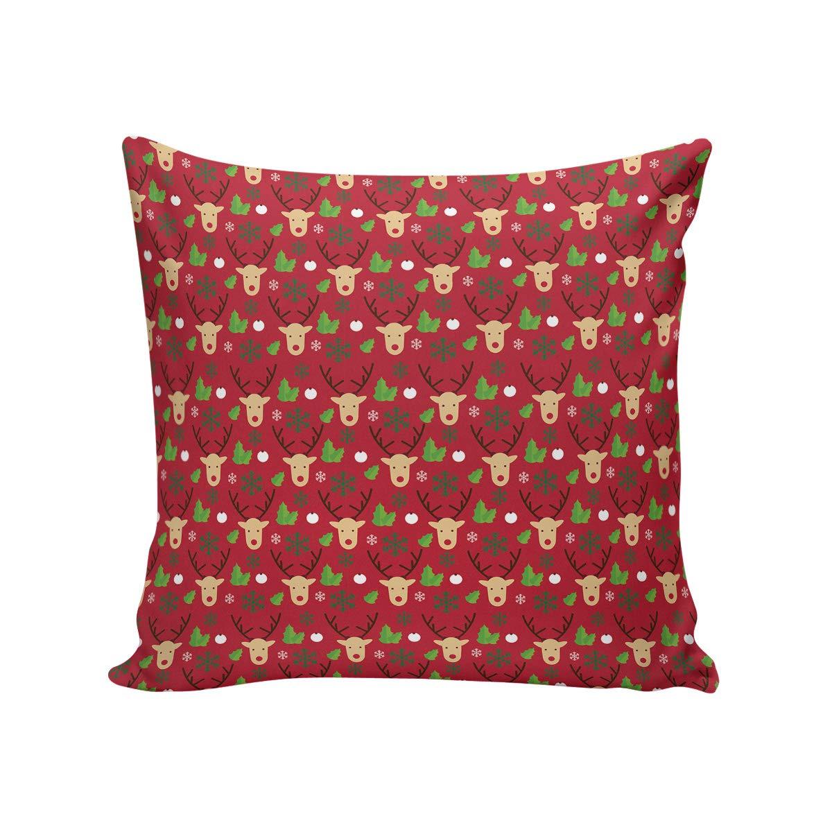 CHARMHOME クリスマステーマ クッションカバー ホームデコレーション ソフト 正方形 クリスマスシリーズ クッションカバー 24インチ x 24インチ コットンリネン   B07JYCFHJ1