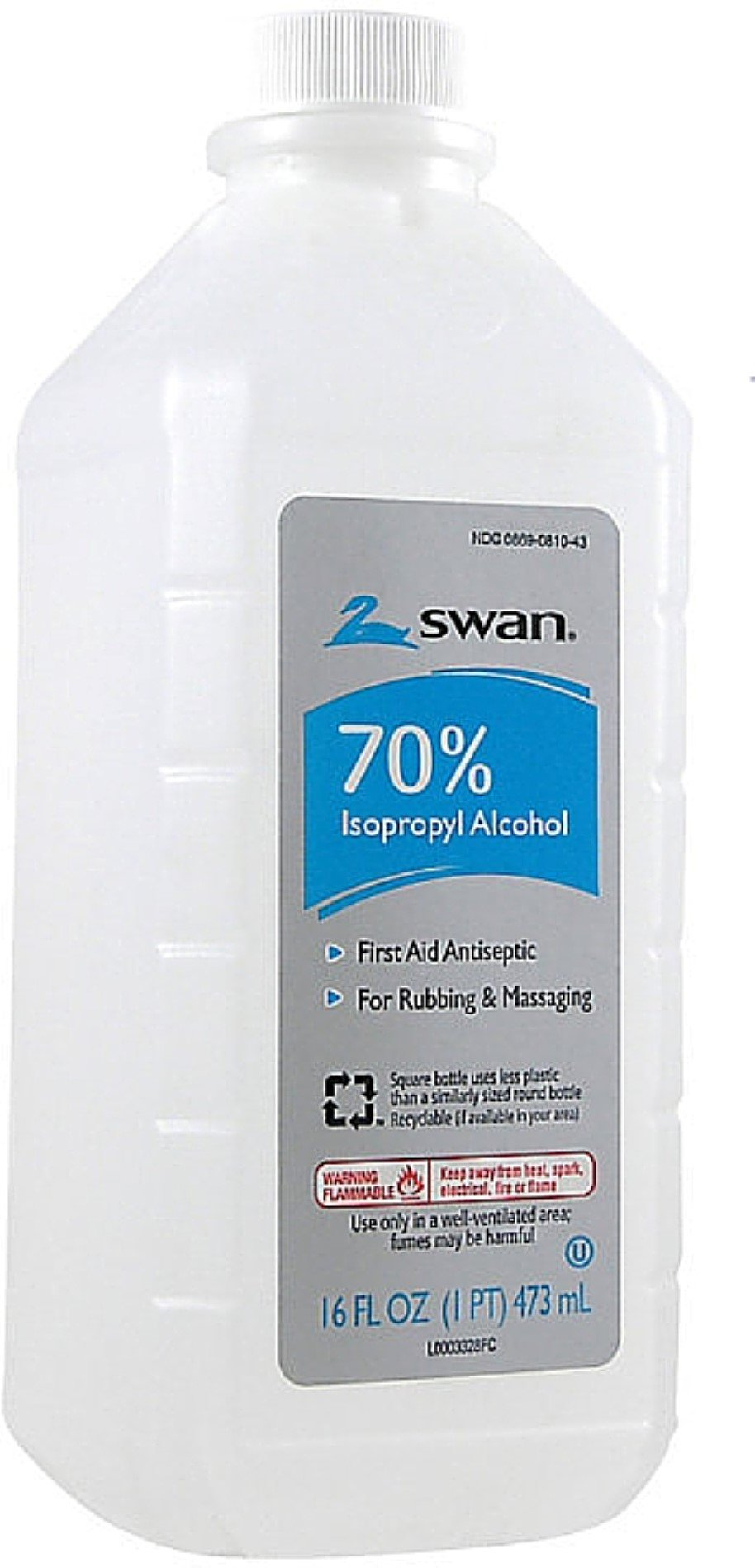 Swan Isoprophyl Alcohol, 70% 16 oz