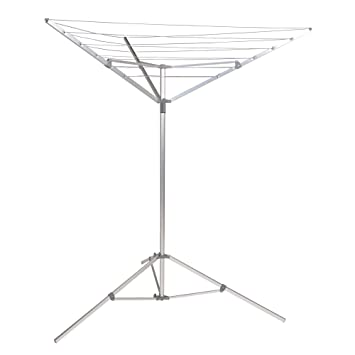 Household Essentials P1900 Portable Umbrella Drying Rack | Aluminum |  18 Lines With 64 Ft