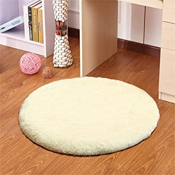 Amazon Com Area Decorative Rugs For Living Room Beige Round Simple