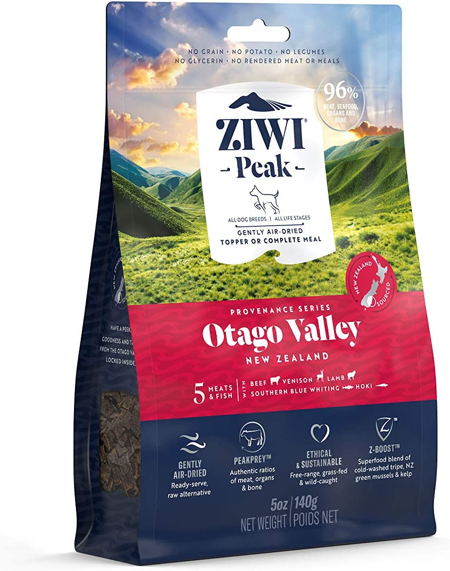 ZIWI Peak Provenance Air-Dried Dog Food – All Natural, High Protein, Grain Free with Superfoods (Otago Valley, 5oz)