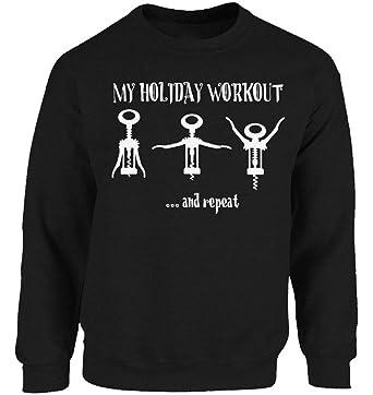 vizor holiday workout christmas sweatshirt unisex wine ugly christmas sweater funny christmas gifts for wine drinkers