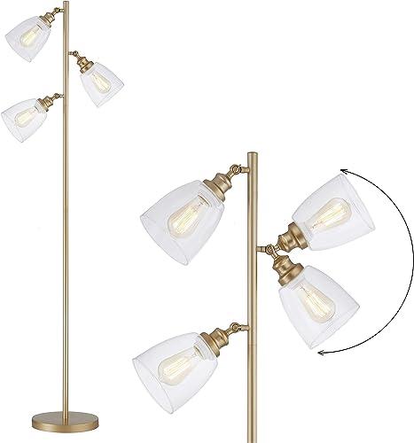 WOXXX Gold Industrial Floor Lamp