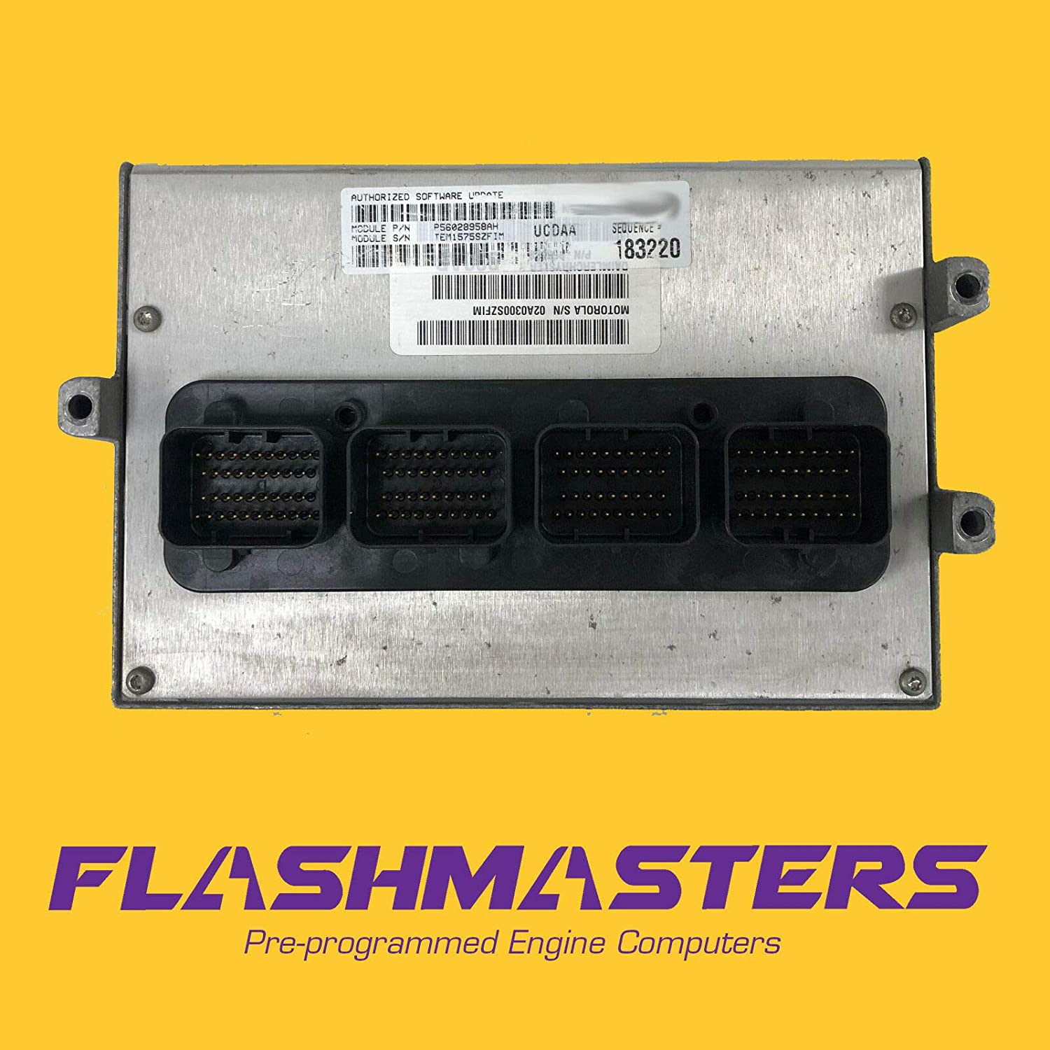 Flashmasters 2005 Compatible for Dodge Charger 5.7L Computer 4896415 ECM PCM ECU Programmed to Your VIN