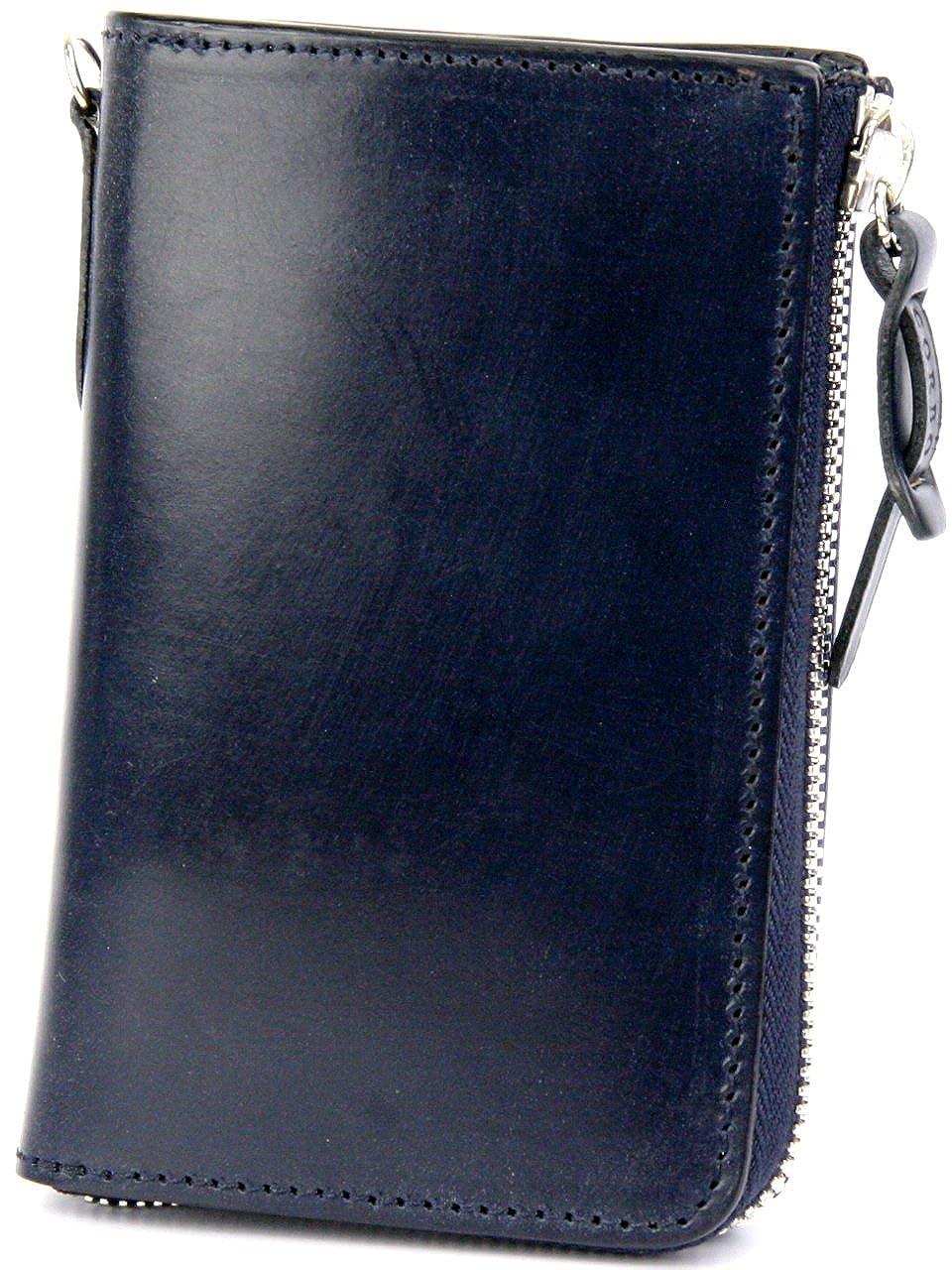 [コルボ] CORBO. -face Bridle Leather- フェイス ブライドルレザー シリーズ L字小銭入れ付き二つ折り財布 1LD-0225 CO-1LD-0225 B006AYPWW6  ネイビー