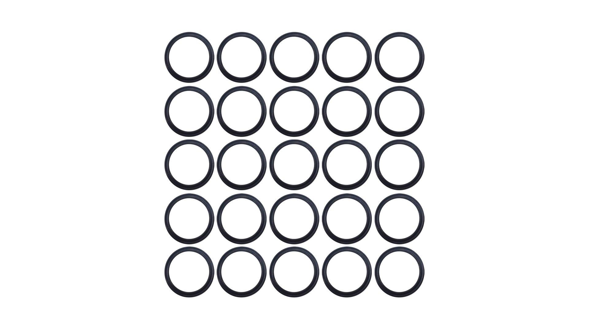 Sterling Seal XP75VIT136X25 136 75D Quad Ring, Viton/FKM, Black (Pack of 25)