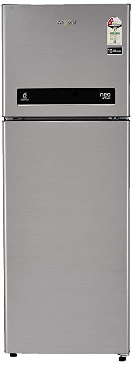 Whirlpool 265 L 2 Star Frost Free Double Door Refrigerator  NEOFRESH DF 278 PRM 2S, German Steel