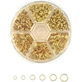 900 Pcs Double Loop Split Rings Gold Plated Closed Jump Rings Connectors Jewelry Finding 4mm 5mm 6mm 7mm 8mm 10mm Box Set