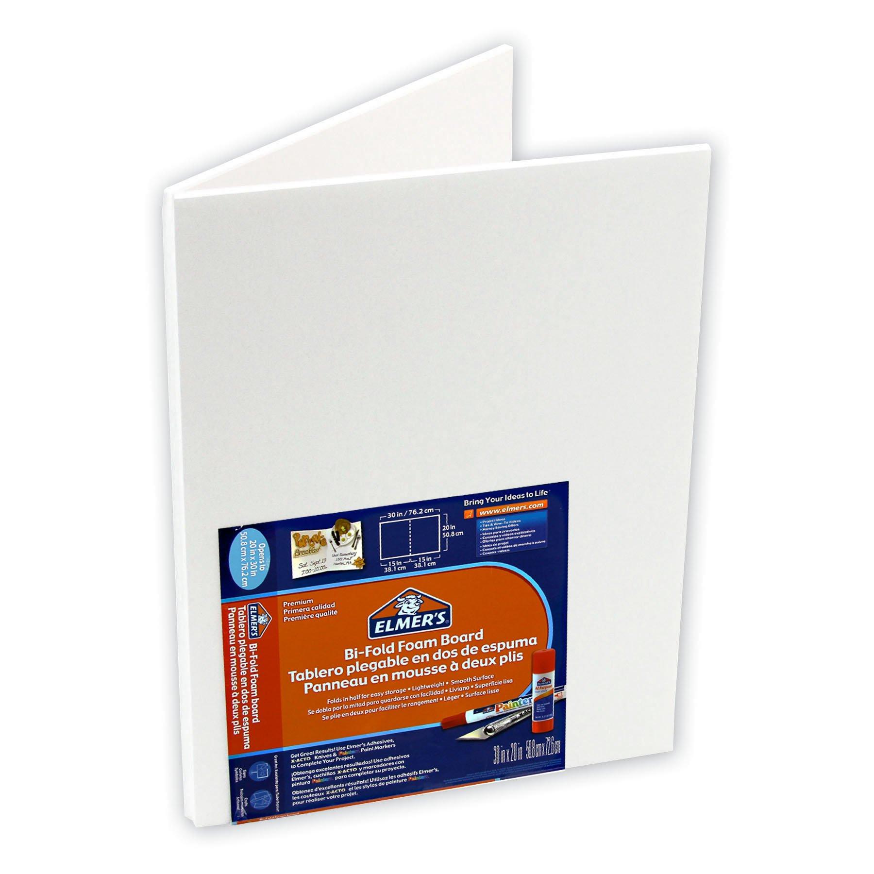 ELMERS Bi-Fold Foam Board, 15''X 20'', White (905165)