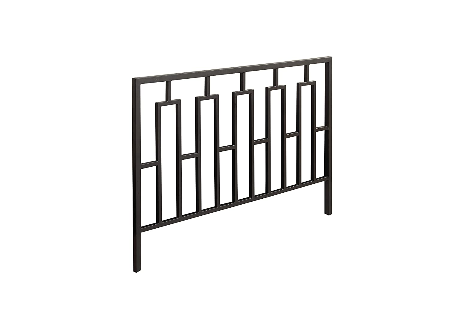 Monarch Specialties Contemporary Combo Head/Footboard, Queen/Full, Satin Black I 2616Q