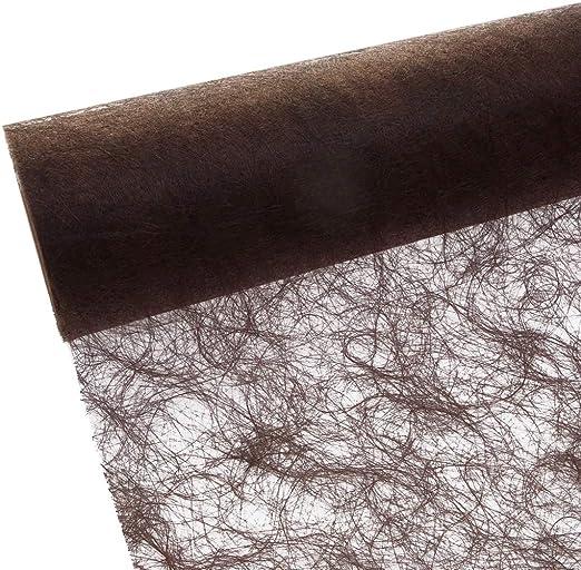 Sizoflor Camino de mesa - chocolate - marrón - 30 cm papel de 25 ...