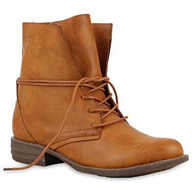 Stiefeletten Schuhe Damen Wildleder Boots 9045 Beige 36