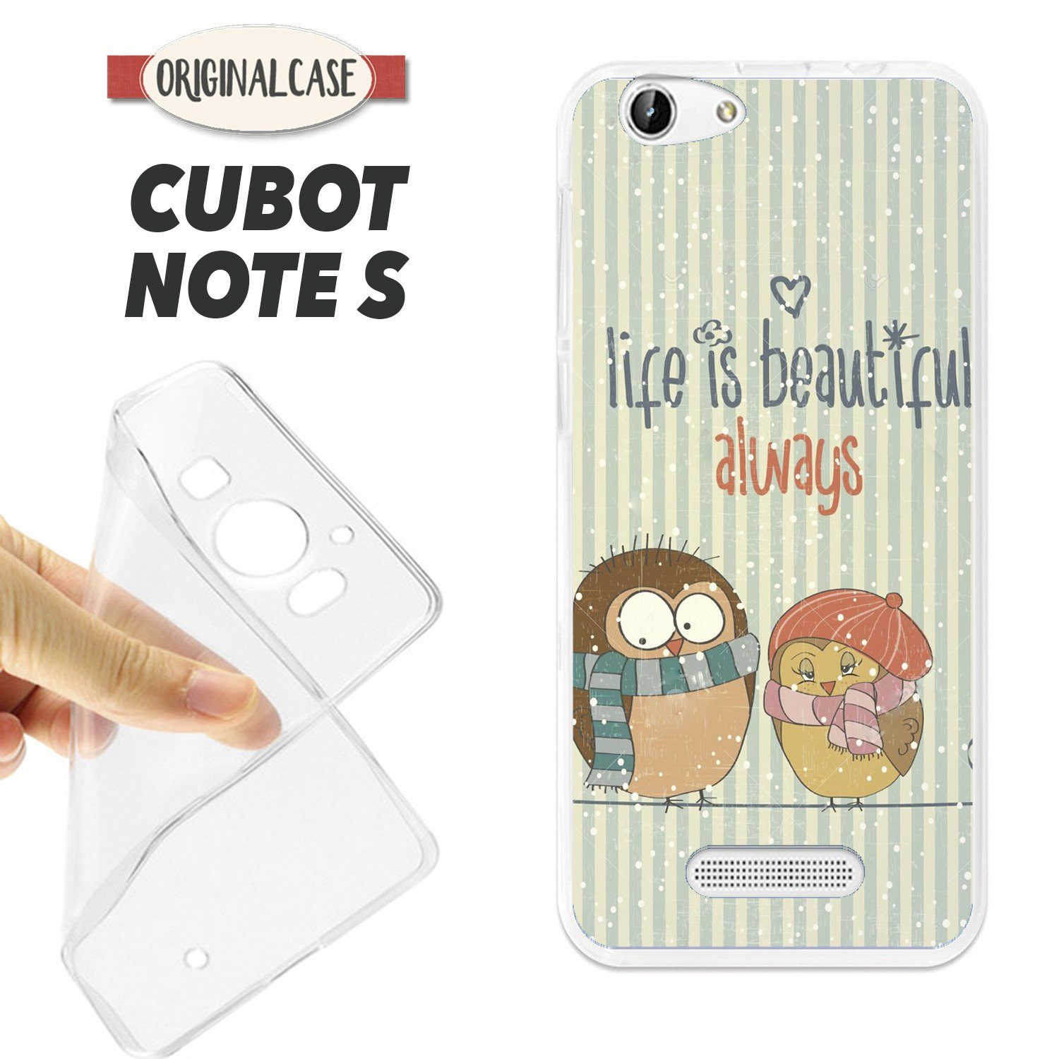 K126 FUNDA CARCASA CUBOT NOTE S BLANDA GEL TPU LIFE IS ...