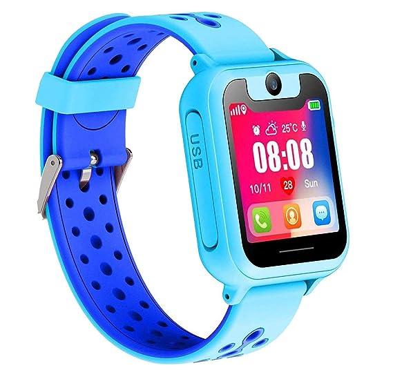 Smartwatch para Niños, Reloj Inteligente con Localizador LBS SOS Despertador Camara Linterna,Regalo para Niños de 3-12 años