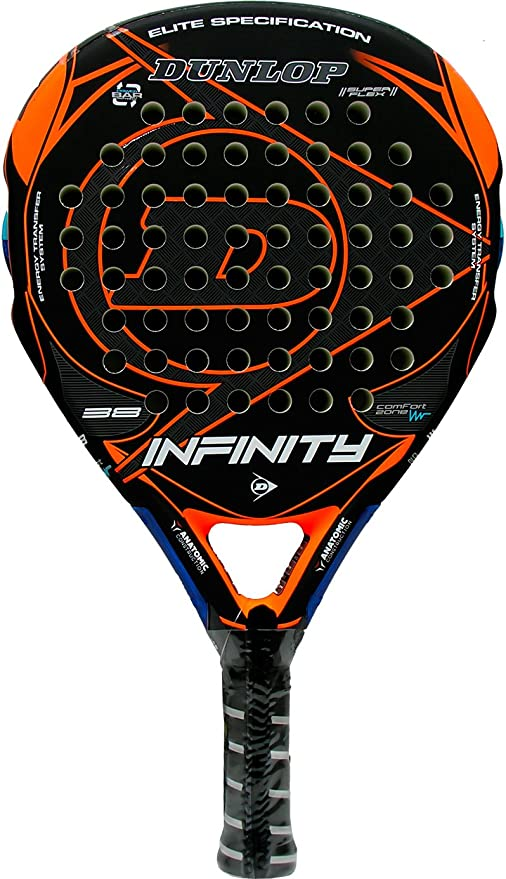 Pala de pádel Dunlop Infinity Orange 2016: Amazon.es: Deportes y ...