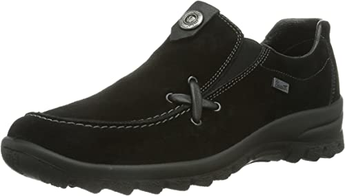 RIEKER MOKASSIN SLIPPER Loafer Schuhe Schwarz Lack Gr. 41