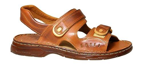 8f0965e0 Cómodas Sandalias Hombres Cuero Genuino de Búfalo Calzado Ortopédico Modelo-812:  Amazon.es: Zapatos y complementos