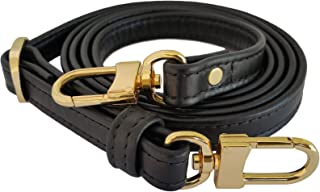 product image for Mautto Black Genuine Leather Handbag/Purse Adjustable Strap for Petite Bags