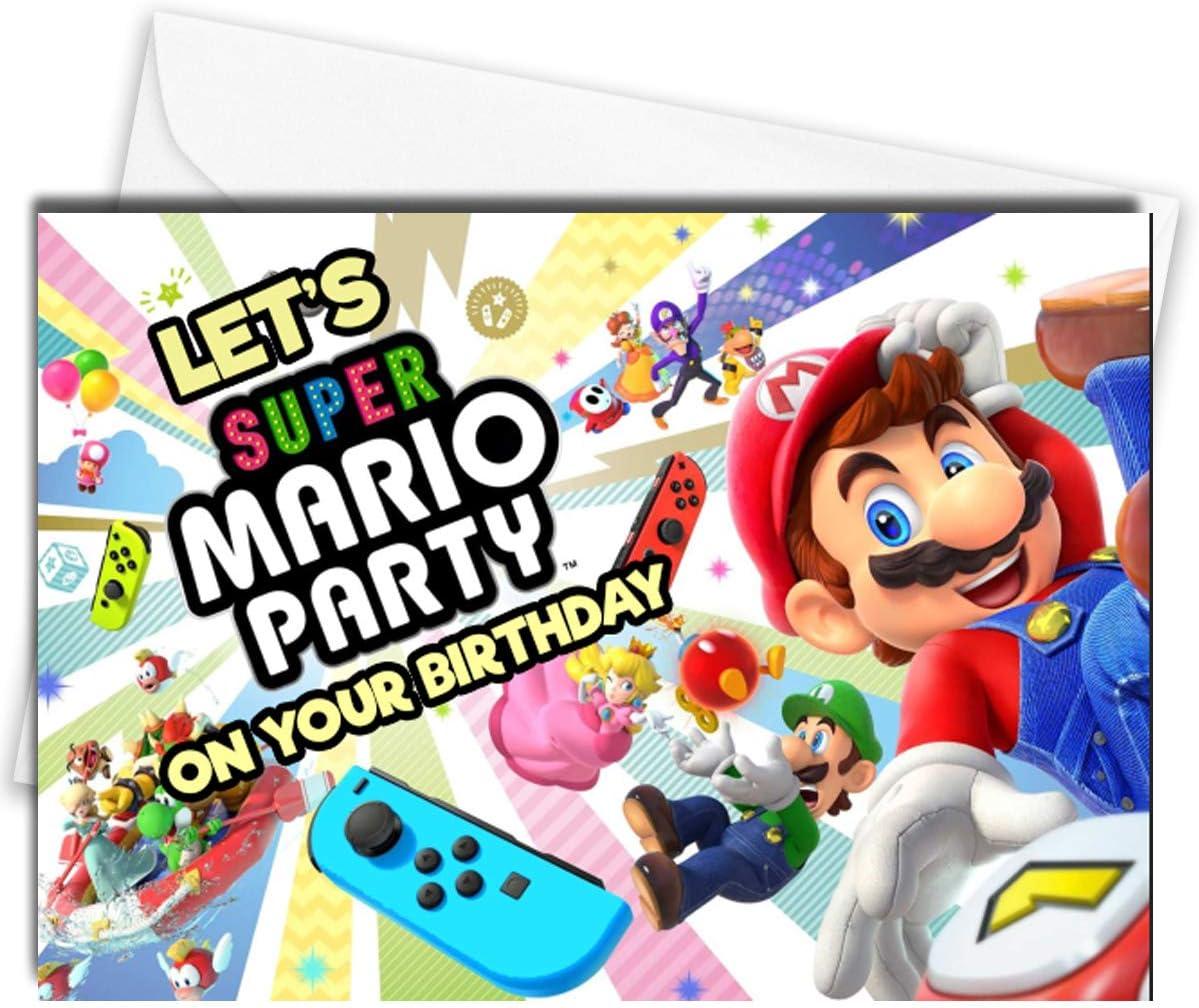 Super Mario Tarjeta de cumpleaños Nintendo Switch: Amazon.es: Hogar
