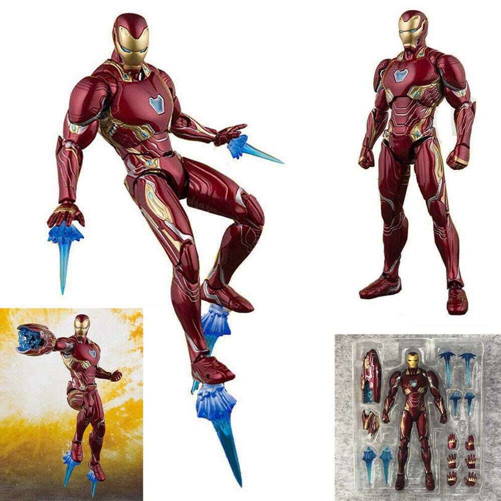 GOODKSSOP Joint Flexible Movable Infinity War Super Hero Classic Character Iron Man Action Figure Model Toy Xmas Gift