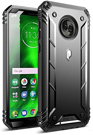 Moto G6 Rugged Case, Poetic Revolution [360 Degree Protection] Full-Body Rugged Heavy Duty Case with [Built-in-Screen Protector] for Motorola Moto G6 ...