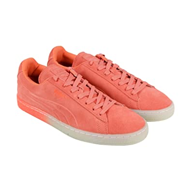 4707e05f6dc Puma Suede Emboss Iced Fluo Fade Mens Orange Suede Lace up Sneakers Shoes  7.5