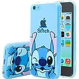 Apple iPhone 5C Étui HCN PHONE® Coque silicone TPU Transparente Ultra-Fine Dessin animé jolie pour Apple iPhone 5C - Stitch