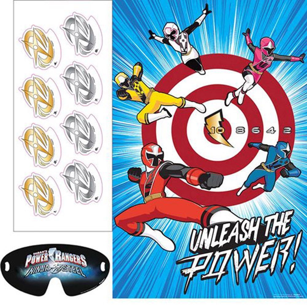 Amazon.com: Power Rangers Ninja Steel Party Game Poster ...