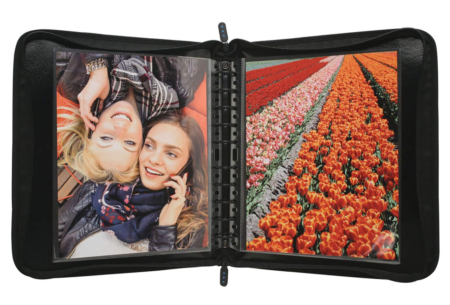 ProFolio by Itoya, Zipper Binder,  Includes 5 Polyglass Pocket Pages - 11 x 14 Inches