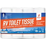Firebelly Outfitters RV Toilet Paper, Septic Tank Safe - 8 Rolls, 2-Ply 500 Sheets - Fast Dissolve Bath Tissue for…