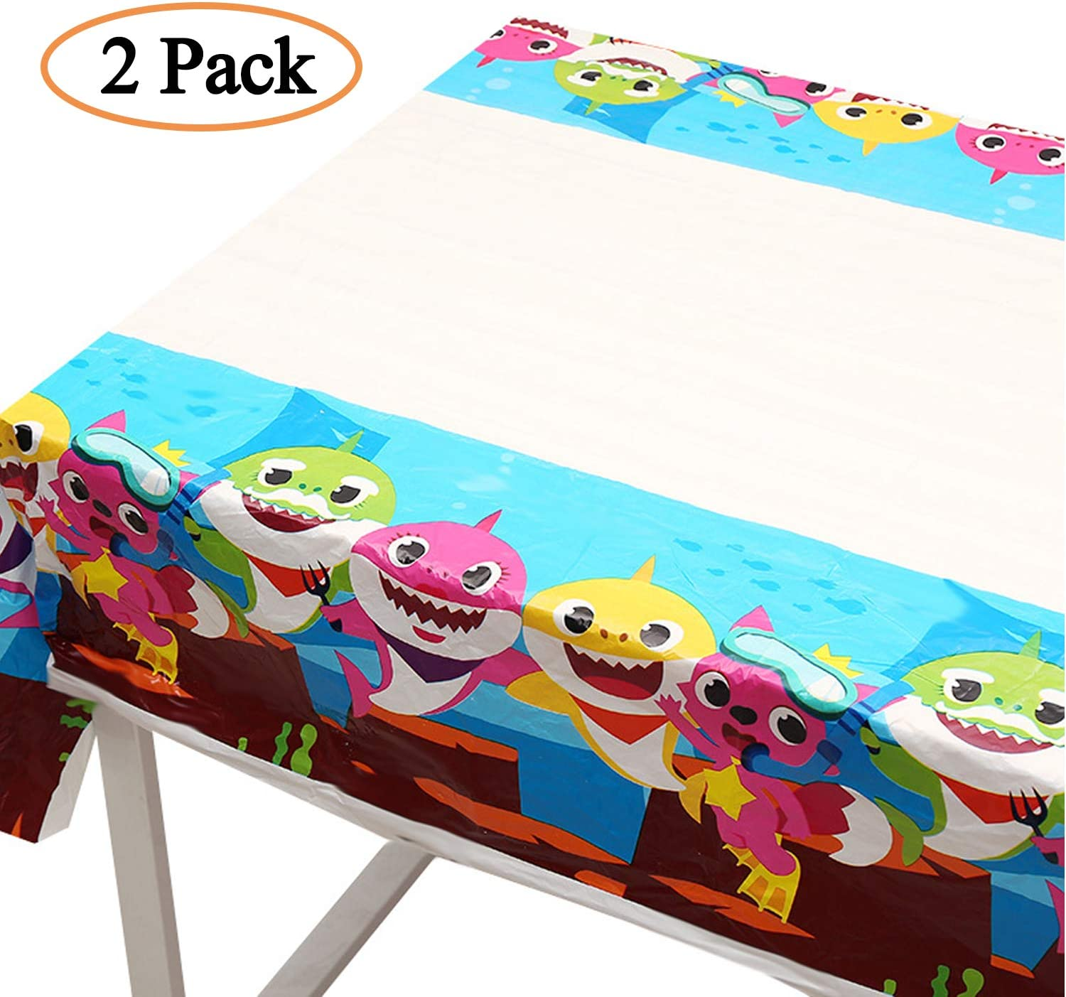 Baby Table Cover Party Supplies Decorations - Baby Shower Birthday Table Décor Cloth Plastic Covers (2 Pcs)